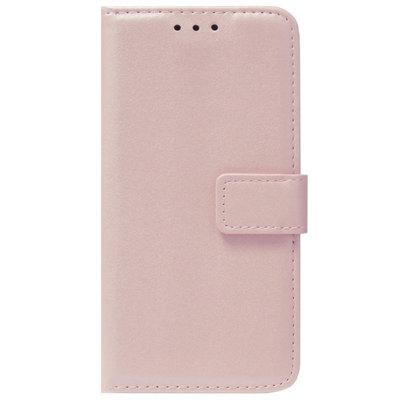 ADEL Kunstleren Book Case Pasjes Portemonnee Hoesje voor Samsung Galaxy J3 (2015)/ J3 (2016) - Goud Rose