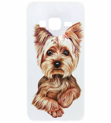 ADEL Siliconen Back Cover Softcase Hoesje voor Samsung Galaxy J3 (2015)/ J3 (2016) - Yorkshire Terrier Hond