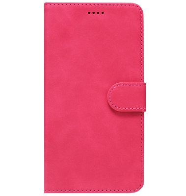 ADEL Kunstleren Book Case Pasjes Portemonnee Hoesje voor Samsung Galaxy J7 (2015) - Roze