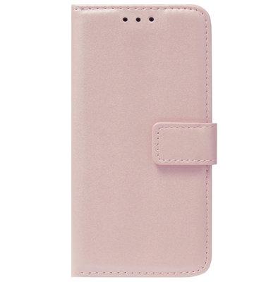 ADEL Kunstleren Book Case Pasjes Portemonnee Hoesje voor Samsung Galaxy J7 (2015) - Goud Rose