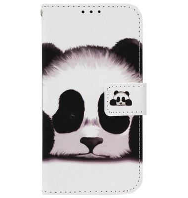 ADEL Kunstleren Book Case Pasjes Portemonnee Hoesje voor Samsung Galaxy J7 (2015) - Panda