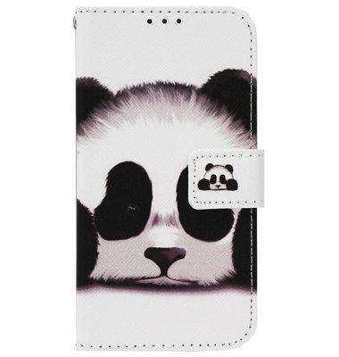 ADEL Kunstleren Book Case Pasjes Portemonnee Hoesje voor Samsung Galaxy J7 (2017) - Panda