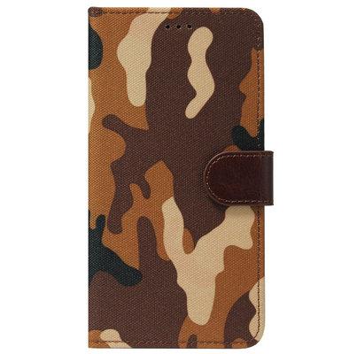 ADEL Kunstleren Book Case Pasjes Portemonnee Hoesje voor Samsung Galaxy J7 (2017) - Camouflage Bruin