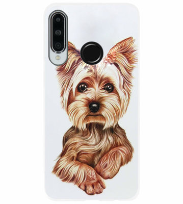 ADEL Siliconen Back Cover Softcase Hoesje voor Huawei P30 Lite - Yorkshire Terrier Hond