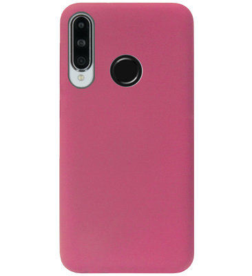 ADEL Premium Siliconen Back Cover Softcase Hoesje voor Huawei P30 Lite - Bordeaux Rood