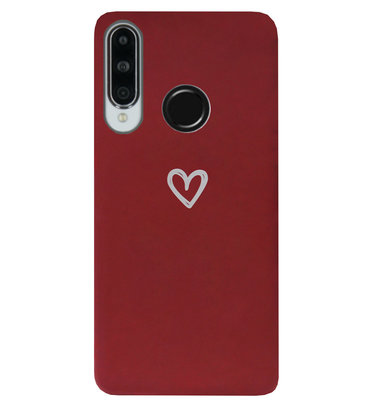ADEL Siliconen Back Cover Softcase Hoesje voor Huawei P30 Lite - Klein Hartje