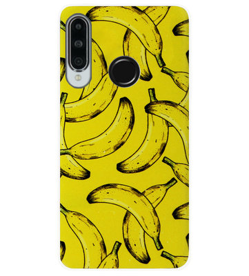 ADEL Siliconen Back Cover Softcase Hoesje voor Huawei P30 Lite - Bananen