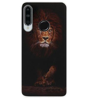 ADEL Siliconen Back Cover Softcase Hoesje voor Huawei P30 Lite - Leeuw