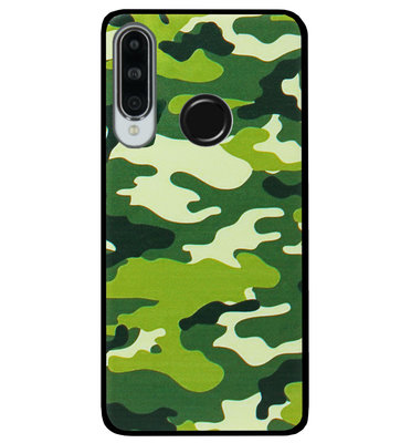 ADEL Siliconen Back Cover Softcase Hoesje voor Huawei P30 Lite - Camouflage