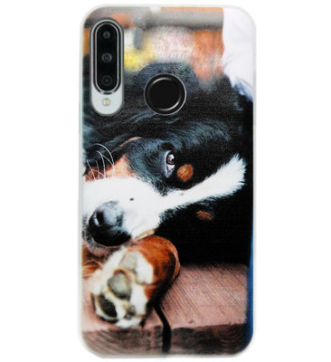 ADEL Siliconen Back Cover Softcase Hoesje voor Huawei P30 Lite - Berner Sennenhond