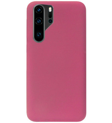 ADEL Premium Siliconen Back Cover Softcase Hoesje voor Huawei P30 Pro - Bordeaux Rood