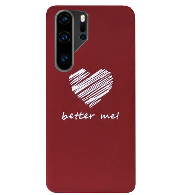 ADEL Siliconen Back Cover Softcase Hoesje voor Huawei P30 Pro - Hartjes