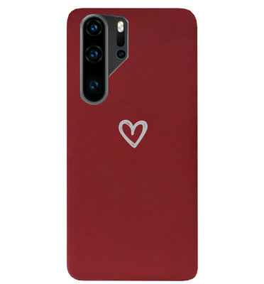 ADEL Siliconen Back Cover Softcase Hoesje voor Huawei P30 Pro - Klein Hartje