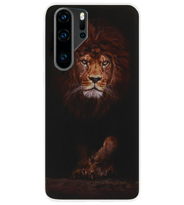 ADEL Siliconen Back Cover Softcase Hoesje voor Huawei P30 Pro - Leeuw