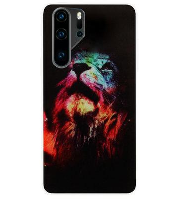 ADEL Siliconen Back Cover Softcase Hoesje voor Huawei P30 Pro - Leeuw Kleur