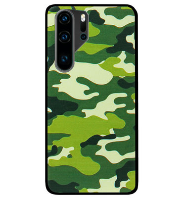 ADEL Siliconen Back Cover Softcase Hoesje voor Huawei P30 Pro - Camouflage