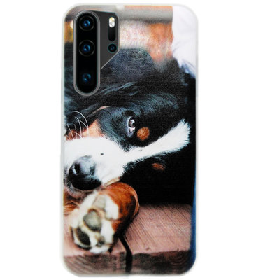 ADEL Siliconen Back Cover Softcase Hoesje voor Huawei P30 Pro - Berner Sennenhond