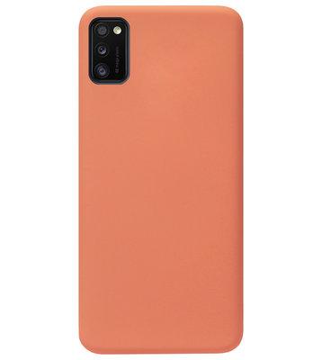 ADEL Premium Siliconen Back Cover Softcase Hoesje voor Samsung Galaxy A41 - Oranje
