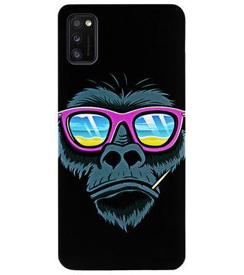 ADEL Siliconen Back Cover Softcase Hoesje voor Samsung Galaxy A41 - Gorilla Apen