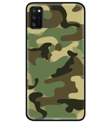ADEL Siliconen Back Cover Softcase Hoesje voor Samsung Galaxy A41 - Camouflage
