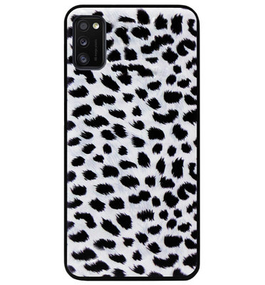 ADEL Siliconen Back Cover Softcase Hoesje voor Samsung Galaxy A41 - Luipaard Wit