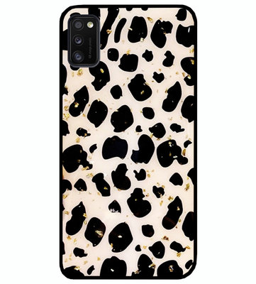 ADEL Siliconen Back Cover Softcase Hoesje voor Samsung Galaxy A41 - Luipaard Bling Glitter