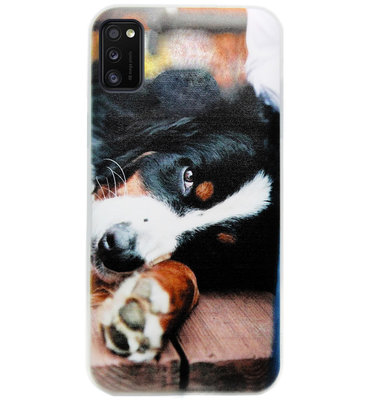 ADEL Siliconen Back Cover Softcase Hoesje voor Samsung Galaxy A41 - Berner Sennenhond