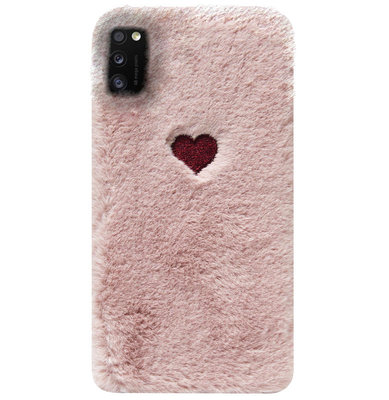 ADEL Siliconen Back Cover Softcase Hoesje voor Samsung Galaxy A41 - Hartjes Roze