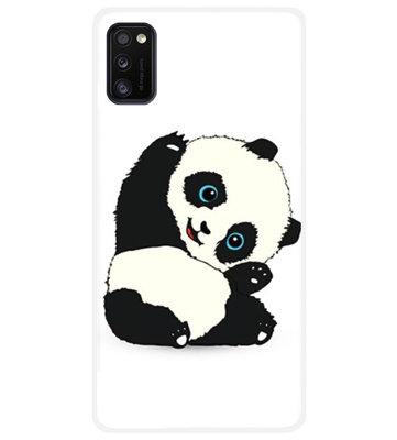 ADEL Siliconen Back Cover Softcase Hoesje voor Samsung Galaxy A41 - Panda