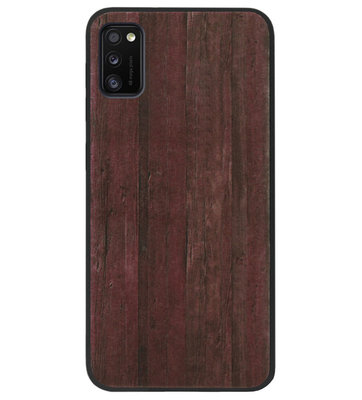 ADEL Siliconen Back Cover Softcase Hoesje voor Samsung Galaxy A41 - Hout Design Bruin