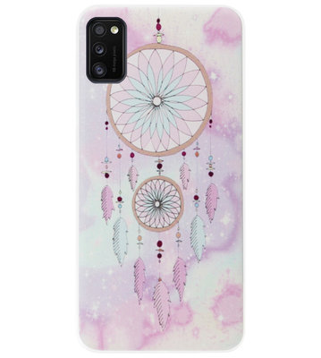 ADEL Siliconen Back Cover Softcase Hoesje voor Samsung Galaxy A41 - Dromenvanger