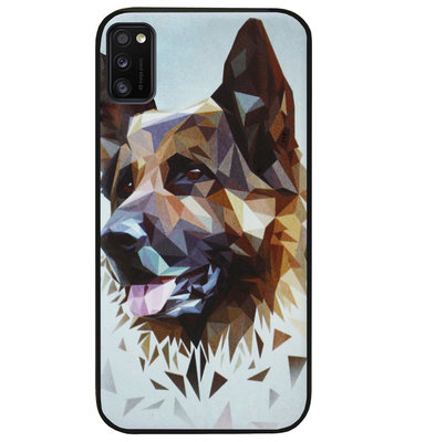 ADEL Siliconen Back Cover Softcase Hoesje voor Samsung Galaxy A41 - Duitse Herder Hond