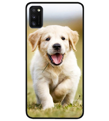 ADEL Siliconen Back Cover Softcase Hoesje voor Samsung Galaxy A41 - Labrador Retriever Hond