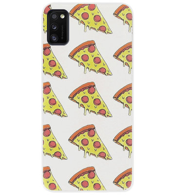 ADEL Siliconen Back Cover Softcase Hoesje voor Samsung Galaxy A41 - Junkfood Pizza