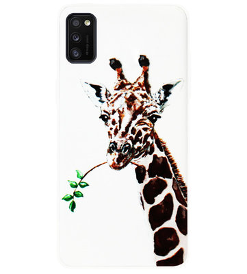 ADEL Siliconen Back Cover Softcase Hoesje voor Samsung Galaxy A41 - Giraf