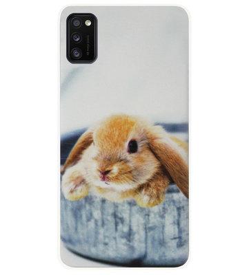 ADEL Siliconen Back Cover Softcase Hoesje voor Samsung Galaxy A41 - Konijn