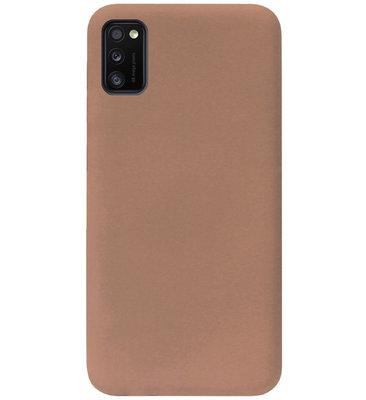 ADEL Siliconen Back Cover Softcase Hoesje voor Samsung Galaxy A41 - Bruin