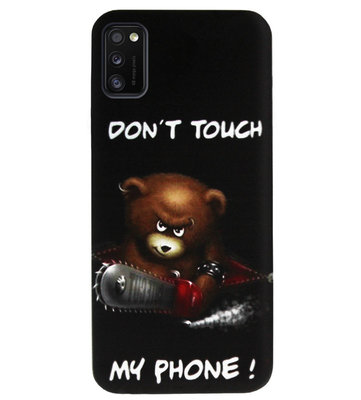 ADEL Siliconen Back Cover Softcase Hoesje voor Samsung Galaxy A41 - Don't Touch My Phone Beren