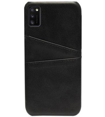 ADEL Kunstleren Back Cover Pasjes Hoesje voor Samsung Galaxy A41 - Zwart