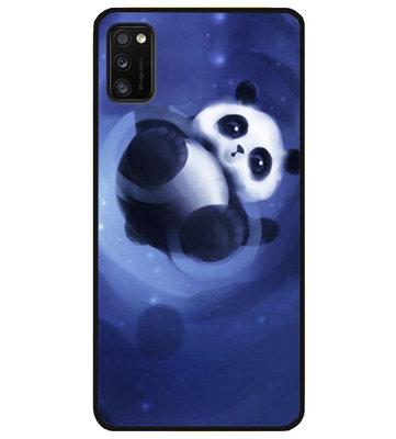 ADEL Siliconen Back Cover Softcase Hoesje voor Samsung Galaxy A41 - Panda Liggend