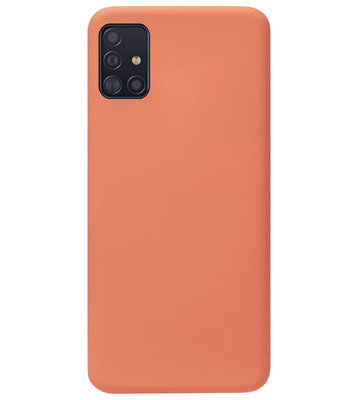 ADEL Premium Siliconen Back Cover Softcase Hoesje voor Samsung Galaxy A71 - Oranje