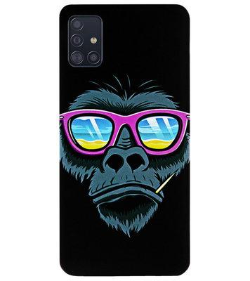 ADEL Siliconen Back Cover Softcase Hoesje voor Samsung Galaxy A71 - Gorilla Apen