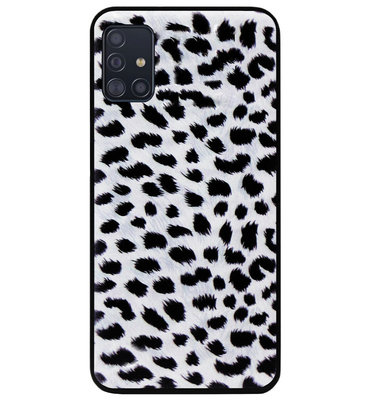 ADEL Siliconen Back Cover Softcase Hoesje voor Samsung Galaxy A71 - Luipaard Wit
