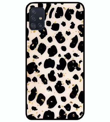 ADEL Siliconen Back Cover Softcase Hoesje voor Samsung Galaxy A71 - Luipaard Bling Glitter