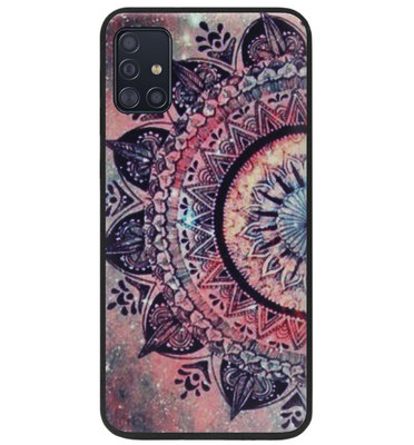 ADEL Siliconen Back Cover Softcase Hoesje voor Samsung Galaxy A71 - Mandala Bloemen Rood