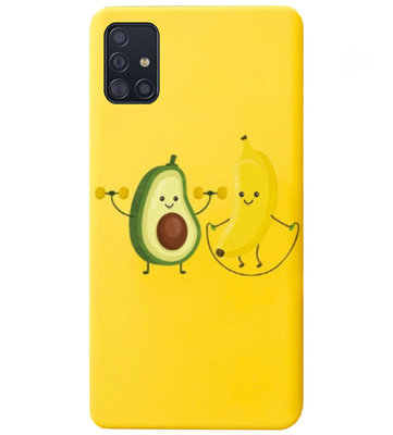 ADEL Siliconen Back Cover Softcase Hoesje voor Samsung Galaxy A71 - Fruit