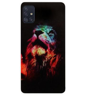 ADEL Siliconen Back Cover Softcase Hoesje voor Samsung Galaxy A71 - Leeuw