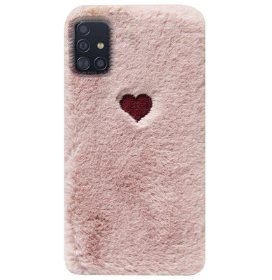 ADEL Siliconen Back Cover Softcase Hoesje voor Samsung Galaxy A71 - Hartjes Roze