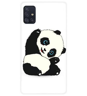 ADEL Siliconen Back Cover Softcase Hoesje voor Samsung Galaxy A71 - Panda