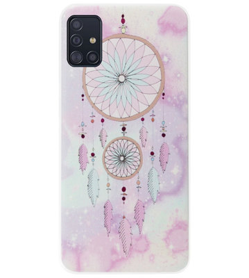 ADEL Siliconen Back Cover Softcase Hoesje voor Samsung Galaxy A71 - Dromenvanger